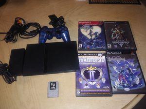 Sony PlayStation 2 Slim SPCPH- 75001 W/16Mb Memory + Kingdom Hearts Games +Cheat for Sale in Palmdale, CA