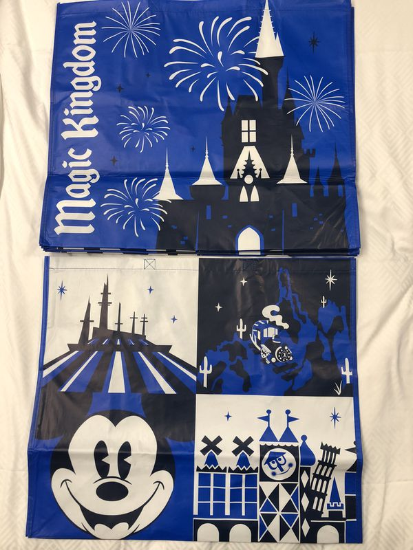 Disney Parks Reusable Shopping Tote Bags S, M, L Size MAGIC KINGDOM Exclusive New