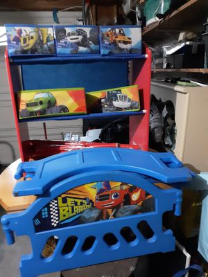 Toddler bed and toy storage for Sale in Cranston, RI