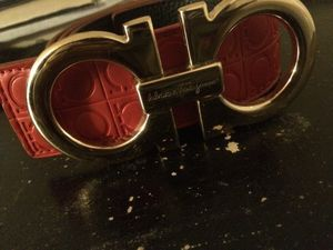 Gucci red leather Ferragamo belt (used) for Sale in Dover, DE