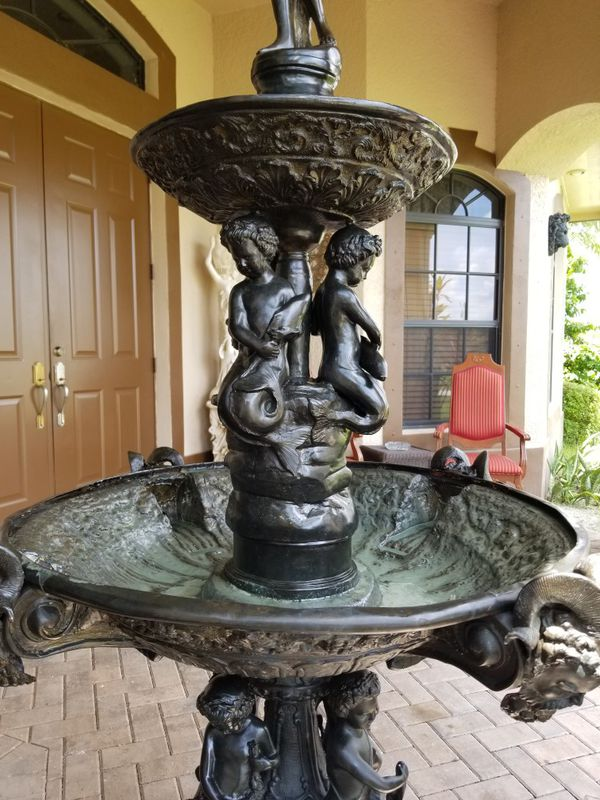 Large bronze water fountain