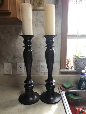 "Wooden Candle Holders - Tall 21.5"" for Sale in Essex, MD"
