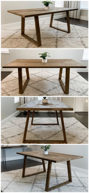 6FT x 3FT Solid Wood Rustic Modern Dining Table for Sale in Fresno, CA