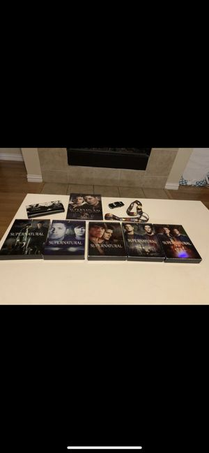 Supernatural seasons 1-5 and accessories for Sale in Fort Worth, TX