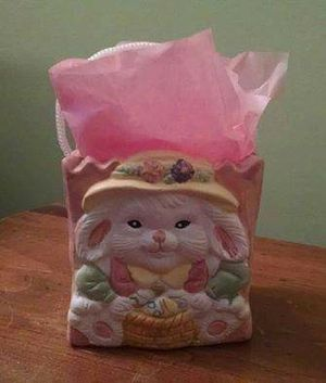Bunny Ceramic Gift Bag for Sale in Danville, PA