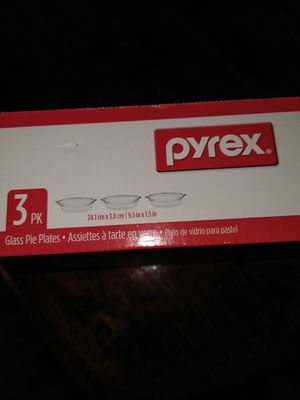 Set of 3 Pyrex Glass Pie Plates for Sale in Lakewood, WA