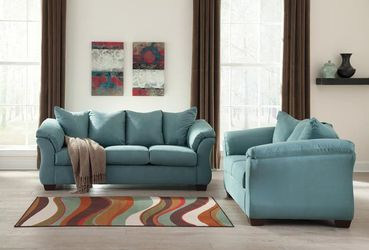 SPECIAL] Darcy Sky Living Room Set Loveseat And sofa 🌈 by Ashley🚚🚛Same Day Delivery for Sale in Greenbelt,  MD