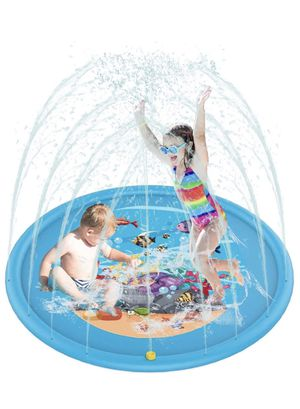 """Sprinkler for Kids, Splash Pad, Wading Pool for Learning,Outdoor Inflatable Sprinkler Water Toys-Wading and Learning, 68"""" Kiddie Water Play Mat Toys for Sale in Chicago, IL"""