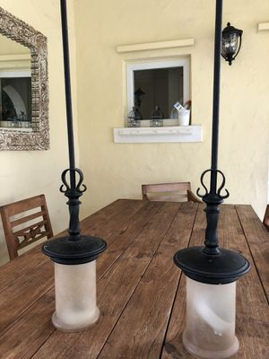 2 Cast iron pendant lamps for Sale in Miami, FL