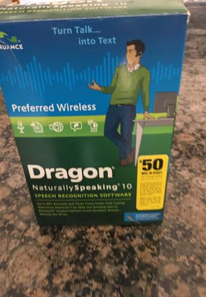 Drsgon Naturally Speaking Speech Recognition for Sale in Oceanside, CA