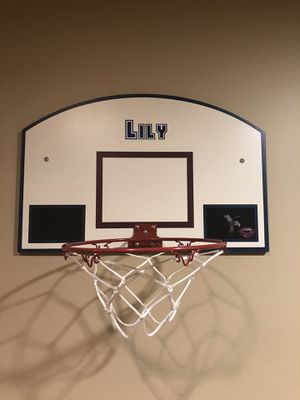 Hanging custom named basketball hoop for Sale in Falls Church, VA