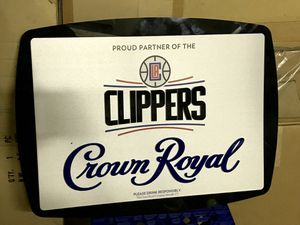 LA Clippers NBA Basketball Crown Royal Bar Sign for Sale in Long Beach, CA