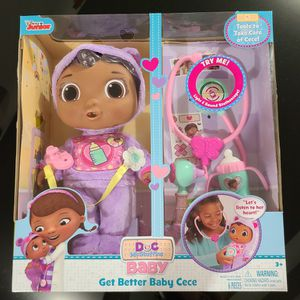 NEW Doc Mcstuffins Get Better Baby Cece for Sale in Phoenix, AZ