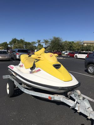 1997 Sea Doo Jet Ski GTI 717cc engine, 3 seat Seadoo run excellent Boat trailer included have Perm plate for Sale in Chandler, AZ
