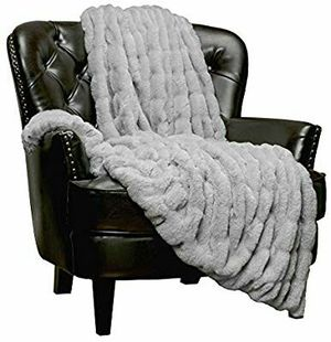 Royal Faux Fur Throw Blanket - Fuzzy Plush Elegant Blanket for Sofa Chair Couch and Bed with Reversible Velvet Blanket (50x65 Inches) for Sale in Stuart, FL