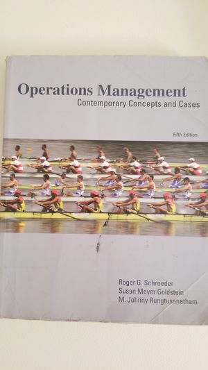 Operations Management Contemporary Concepts and Cases, 5th edition, Roger G. Schroeder for Sale in Alexandria, VA