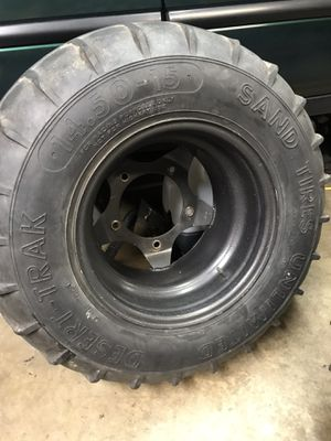 VW wide 5 wheels and sand tire unlimited tires. Baja sandrail for Sale in Montclair, CA