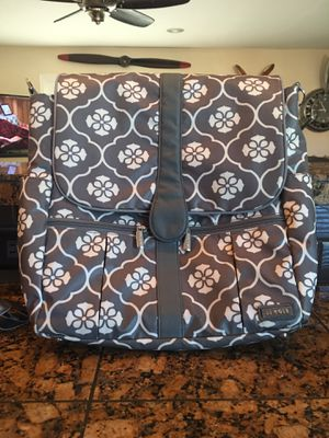 JJ Cole Infant Baby Backpack Diaper Bag Large Capacity Grey Gray Floret-$45.00 for Sale in Phoenix, AZ