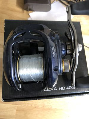 Daiwa Lexa 400 HD fishing reel and rod for Sale in Los Angeles, CA