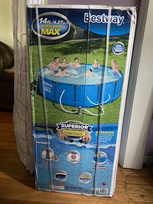 Bestway 14ft x 42in Steel Pro Max for Sale in Jersey City, NJ