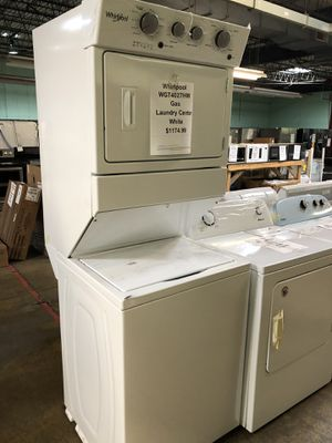 Whirlpool!! Gas laundry center with manufacturers warranty!!! for Sale in New Lenox, IL