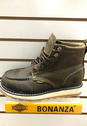 Bonanza men's work boots, real Mexican leather for Sale in Garden Grove, CA