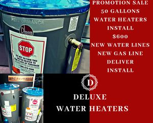 📣🛁🚿WATER heaters savings promo 50 gallons👌😱 for Sale in Los Angeles, CA