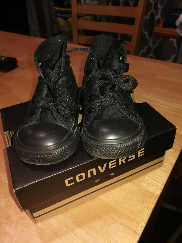 Infant black high top Converse