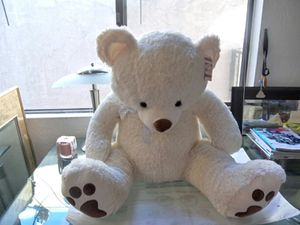 """Best Made Toy Plush Teddy Bear White with Sliver """"3 *New* for Sale in El Cajon, CA"""