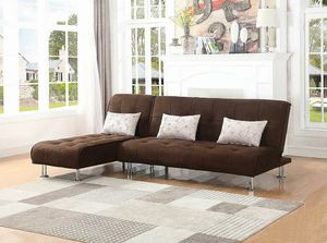 NEW Modern Brown Microfiber Sofa bed Sleeper Sectional with Chaise for Sale in KNG OF PRUSSA, PA