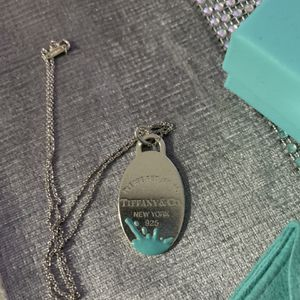 Authentic Tiffany & Co Pendant Charm Necklace for Sale in Baldwin, NY