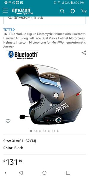 Full faced modular Motorcycle helmet with Bluetooth features for Sale in Alameda, CA