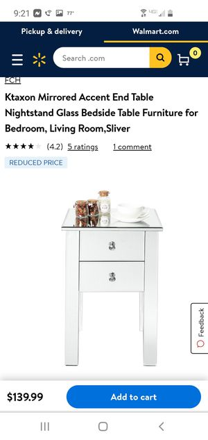 2 drawer mirror night stand/end table for Sale in Bakersfield, CA