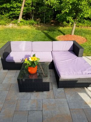3 piece Outdoor Rattan Wicker Conversation Set and Bar for Sale in Accokeek, MD