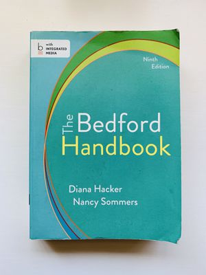 The Bedford Handbook 9th Edition for Sale in Rancho Cucamonga, CA
