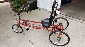 Cherry Red Recumbent Tricycle, ready to ride for Sale in Neenah, WI