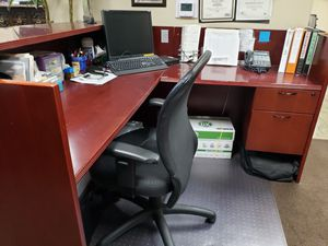 Cherry wood office desks and receptionist desks for Sale in Ontario, CA
