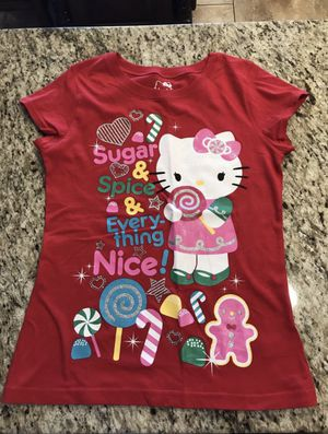 New hello kitty Christmas shirt size xl 14-16 for Sale in Phoenix, AZ