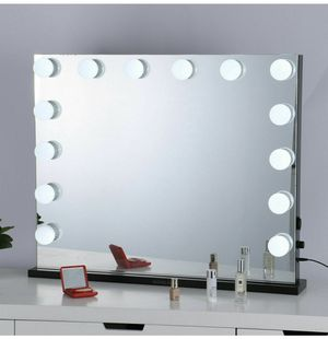 Makeup Mirror Vanity Mirror w/ Lights Hollywood Lighted Salon Mirror Tabletop or Wall Mounted for Sale in Redlands, CA