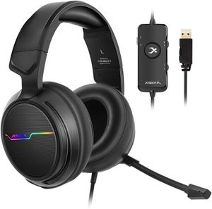 XIBERIA V20 Gaming Headset with USB Port and 7.1 Surround Sound, LED Light, Mic and Soft Earmuffs Gaming Headphone for PC Laptop Desktop for Sale in Allen, TX