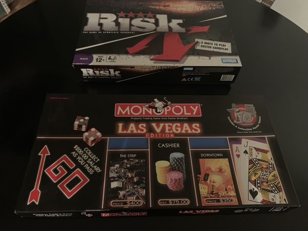 2 Board Games - Risk and Monopoly