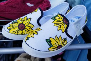 Sunflower hand painted slip on shoes for Sale in Murraysville, WV