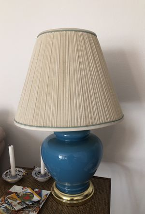 Set of 2 Vintage blue glass table lamps for Sale in West Hollywood, CA