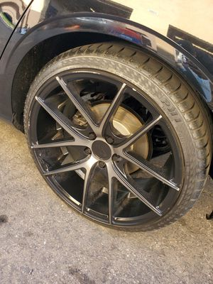 """19"""" Niche Satin/Machine Wheels and Tires for Sale in Rancho Cucamonga, CA"""