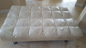 Convertible White Leather Futon Sofa Bed for Sale in Winter Garden, FL