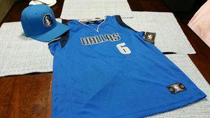 Dallas Mavericks #6 Kristaps Porzingis youth XL 16-18 jersey w hat for Sale in Dallas, TX
