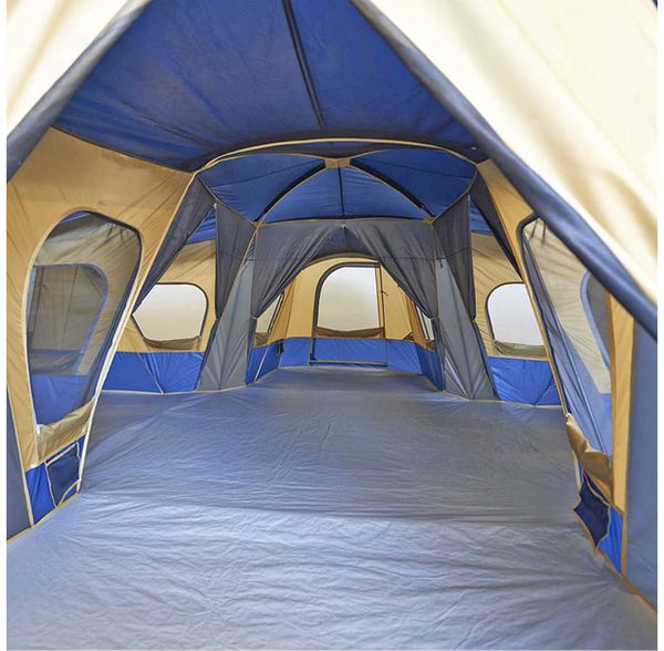 4 room tent fits up to 14 people hiking n camping shelter