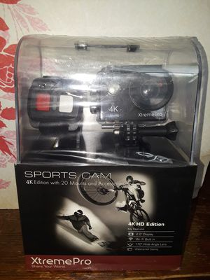 Mountable Camera Sports cam 4k edition 20 mounts and accessories for Sale in Tacoma, WA