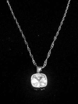 Sterling Silver Square CZ Necklace for Sale in Las Vegas, NV