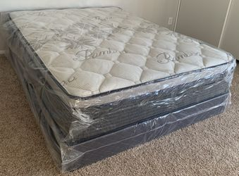 $250 Brand New Queen Pillow Top Mattress With Box Spring for Sale in Artesia,  CA